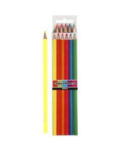 Colortime-värikynät, Pit. 17,45 cm, kärki 3 mm, neonvärit, 6 kpl/ 1 pkk