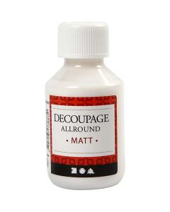 Decoupagelakka, matt, 100 ml/ 1 pll