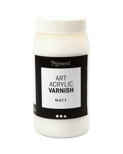 Art Acrylic vernissa, matt, matta läpinäkyvä, valkoinen, 500 ml/ 1 tb