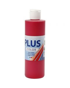 Plus Color- askartelumaali, marjanpunainen, 250 ml/ 1 pll