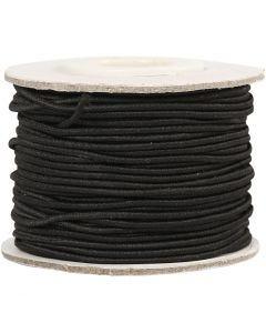 Kumilanka, paksuus 1 mm, musta, 25 m/ 1 rll