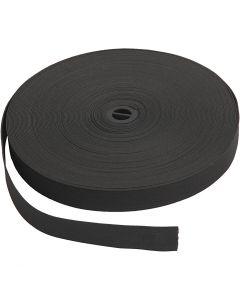 Kuminauhat, Lev: 20 mm, musta, 25 m/ 1 rll