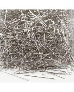 Somistusneulat, Pit. 30 mm, paksuus 0,55 mm, hopea, 500 g/ 1 pkk