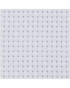 Aida-kangas, koko 50x50 cm, 35 ruutua per 10 cm, valkoinen, 1 kpl