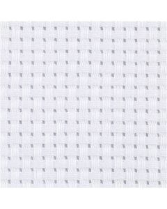 Aida kangas, koko 50x50 cm, 35 ruutua per 10 cm, valkoinen, 1 kpl