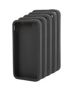 Puhelimen suojakotelo, kirjailtava, nro 4/4S, koko 11,8x2,4 cm, musta, 15 kpl/ 1 pkk