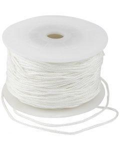 Makrameenyöri, paksuus 2 mm, valkoinen, 50 m/ 1 rll