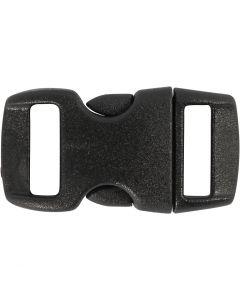 Muovilukko, Pit. 29 mm, Lev: 15 mm, aukon koko 3x11 mm, musta, 4 kpl/ 1 pkk