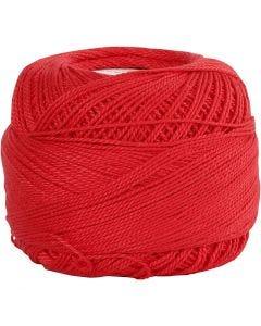 Puuvillalanka, punainen, 20 g/ 1 kerä