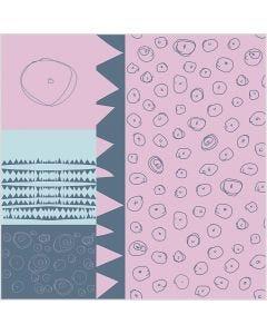 Puuvillakangas, Lev: 145 cm, 140 g, vaaleanpunainen, 1 jm