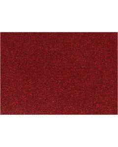 Silityskalvo, 148x210 mm, kimalle, punainen, 1 ark