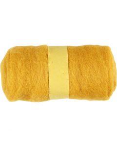 Karstattu villa, keltainen, 100 g/ 1 kerä