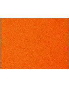 Askarteluhuopa, 42x60 cm, paksuus 3 mm, oranssi, 1 ark