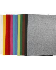 Askarteluhuopa, 42x60 cm, paksuus 3 mm, värilajitelma, 120 ark/ 1 pkk