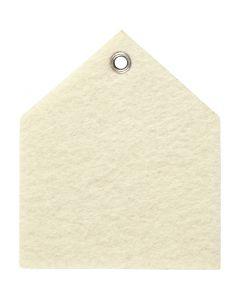 Huopakuvio, koko 6,5x7,5 cm, paksuus 3 mm, luonnonvalkonen, 5 kpl/ 1 pkk