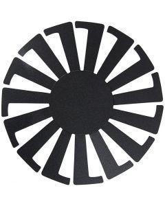 Korinpunontapohja, Kork. 6 cm, halk. 8 cm, musta, 10 kpl/ 1 pkk