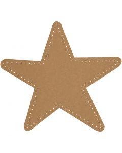 Tähti, halk. 17 cm, 350 g, luonnonrusk., 4 kpl/ 1 pkk