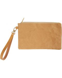Rannelaukku, Kork. 18 cm, Pit. 21 cm, 350 g, vaaleanruskea, 1 kpl