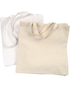 Ostoskassi, 135 g, valkoinen, vaalea natural, 2x10 kpl/ 1 pkk