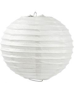 Paperilamppu, Pyöreä, halk. 35 cm, valkoinen, 1 kpl