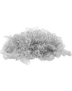 Kiharat hiukset, vaaleanharmaa, 15 g/ 1 pkk