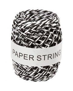 Paperinaru, paksuus 1 mm, musta/valkoinen, 50 m/ 1 rll