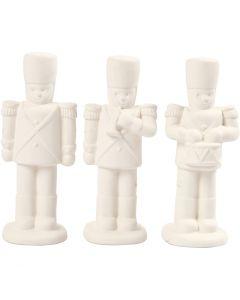 Pähkinänsärkijät, Kork. 14 cm, valkoinen, 3 kpl/ 1 pkk