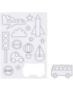 Magneetit, Liikenne, koko 14,85x21 cm, 1 ark