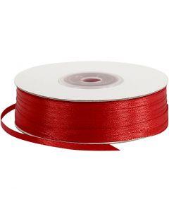 Satiininauha, Lev: 3 mm, punainen, 100 m/ 1 rll