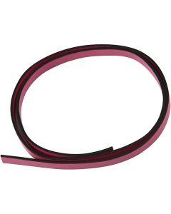 Keinonahkanauha, Lev: 10 mm, paksuus 3 mm, pinkki, 1 m/ 1 pkk