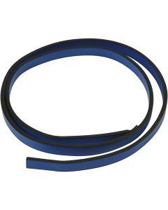 Keinonahkanauha, Lev: 10 mm, paksuus 3 mm, sininen, 1 m/ 1 pkk