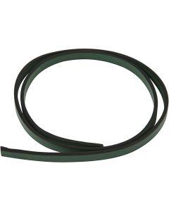 Keinonahkanauha, Lev: 10 mm, paksuus 3 mm, vihreä, 1 m/ 1 pkk