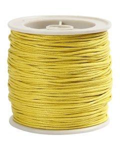 Puuvillanyöri, paksuus 1 mm, keltainen, 40 m/ 1 rll