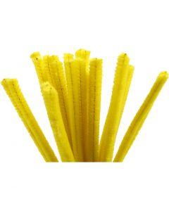 Askartelupunokset, Pit. 30 cm, paksuus 9 mm, keltainen, 25 kpl/ 1 pkk