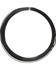 Alumiinilanka, pyöreä, paksuus 1 mm, musta, 16 m/ 1 rll
