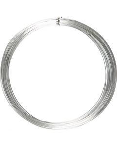 Alumiinilanka, pyöreä, paksuus 1 mm, hopea, 16 m/ 1 rll