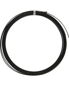 Alumiinilanka, litteä, Lev: 3,5 mm, paksuus 0,5 mm, musta, 4,5 m/ 1 rll