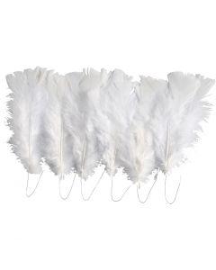 Höyhenet, Pit. 11-17 cm, valkoinen, 18 kerä/ 1 pkk