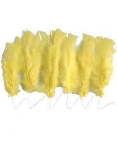 Höyhenet, Pit. 11-17 cm, keltainen, 18 kerä/ 1 pkk