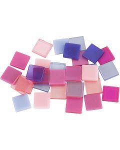 Minimosaiikit, koko 10x10 mm, violetti/tummanvioletti, 25 g/ 1 pkk