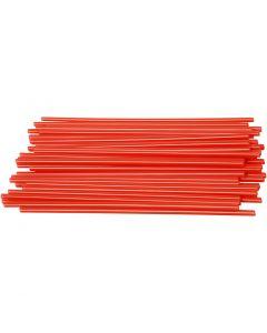 Muovipillit, Pit. 12,5 cm, halk. 3 mm, punainen, 800 kpl/ 1 pkk