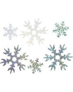 Paljetit, halk. 25+45 mm, vaaleansininen, hopea, valkoinen, 250 g/ 1 pkk