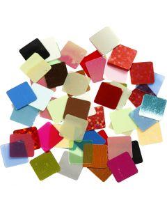 Paljettimosaiikit, koko 10x10 mm, värilajitelma, 10 g/ 1 pkk