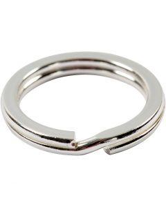 Kierrerengas, halk. 15 mm, hopeanväriset, 15 kpl/ 1 pkk
