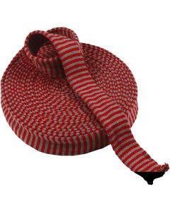 Kudosputki, Lev: 40 mm, joulunpunainen/harmaa, 10 m/ 1 rll
