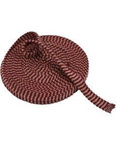 Kudosputki, Lev: 22 mm, viininpunainen/harmaa, 10 m/ 1 rll
