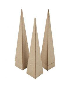 Kartiot, Kork. 20 cm, koko 6x6x6 cm, 5 kpl/ 1 pkk