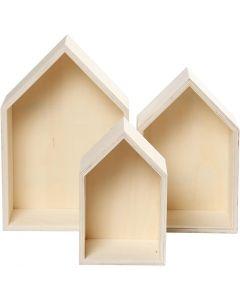 Säilytyslaatikkosarja, Kork. 20,3+25,3+31 cm, syvyys 10 cm, Lev: 13+16,2+20 cm, 3 kpl/ 1 set