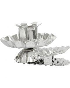 Kynttilänpidike, halk. 40 mm, hopeanväriset, 8 kpl/ 1 pkk