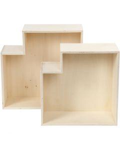 Säilytyslaatikot, Kork. 27+31 cm, syvyys 12,5 cm, 2 kpl/ 1 set